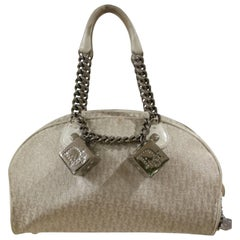 Christian Dior white Gambler Cubes Bag