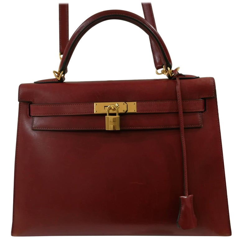 Hermès Bordeaux 32cm Kelly Bag