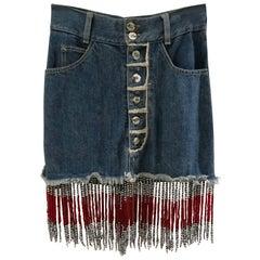 Katharine Hamnett London Denim beads Skirt