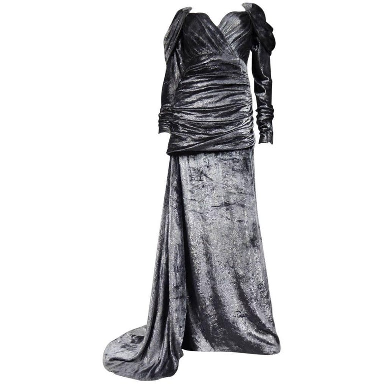 Yves Saint Laurent  Couture Evening Dress numbered 55782 - 1971 Fall