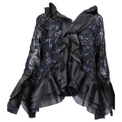 Hanae Mori tulle and silk Embroidered Jacket and Top- Circa 1980 - 1990