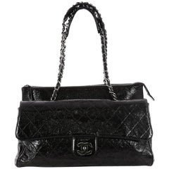 Chanel Ritz Flap Bag Quilted Patent Largee