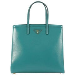 Prada Slim Convertible Tote Vernice Saffiano Leather Medium