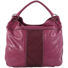 Bottega Veneta Hobo Leather with Grommet Detail Large