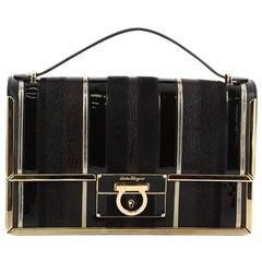 Salvatore Ferragamo Aileen Shoulder Bag Mixed Media Medium