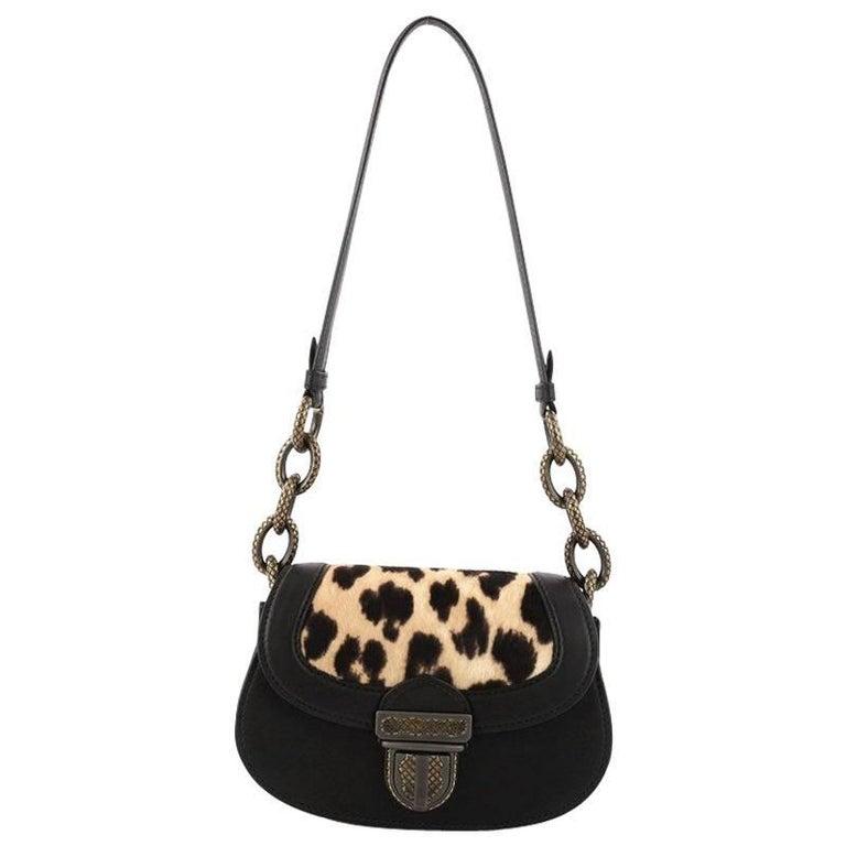 Bottega Veneta Umbria Leather with Calf Hair Small Shoulder Bag  For Sale