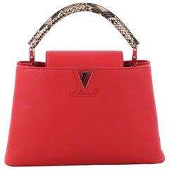 Louis Vuitton Capucines Handbag Leather with Python PM