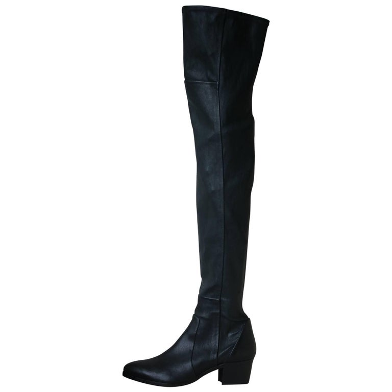 ec1f6541d01a Chanel Stretch-Leather Over-The-Knee Boots For Sale at 1stdibs