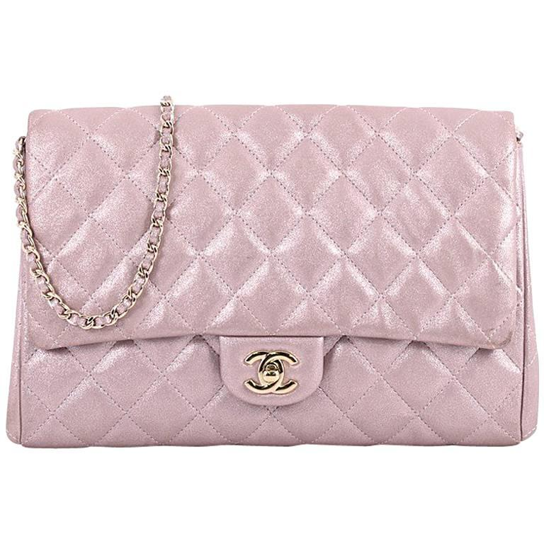 Chanel Clutch with Chain Quilted Pearlescent Calfskin