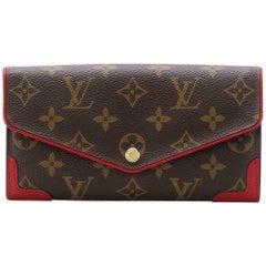 Louis Vuitton Brown Monogram Sara Retro Wallet