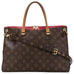 Louis Vuitton Brown Monogram Print Pallas Bag