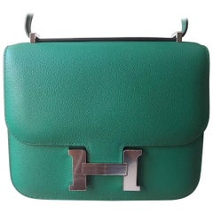 Hermes Constance Bag Vert Vertigo Mini Evercolor Palladium Hardware