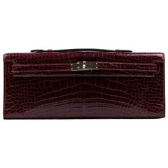 Hermes Kelly Cut Clutch in Red H Alligator Leather