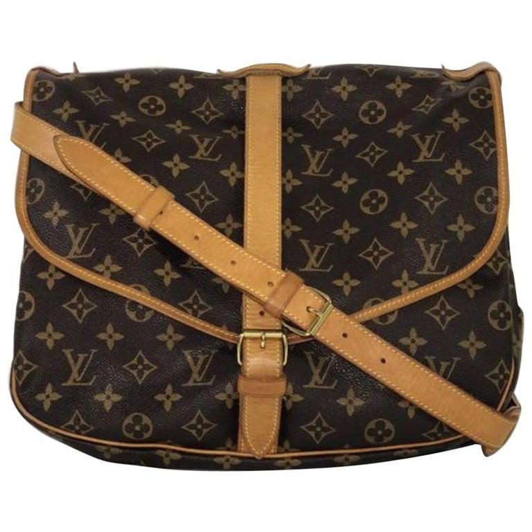 Louis Vuitton Monogram Saumur 35 Crossbody Handbag