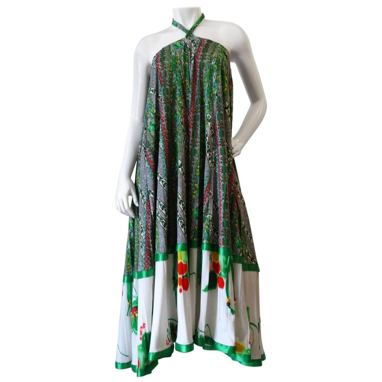 Lillie Rubin for Chessa Davis Convertible Halter Maxi Dress, 1970s