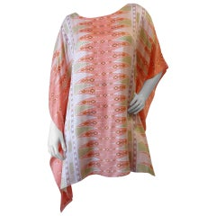 Bob Mackie Wearable Art Poncho Tunic, 1980s