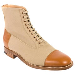 Church's Brandy Womens Two Tone Brown Platform Ankle Boots