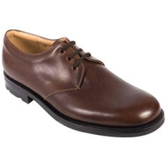 Church's Womens Brown Leather Eyelet Lace-Up Cheryl Shoes