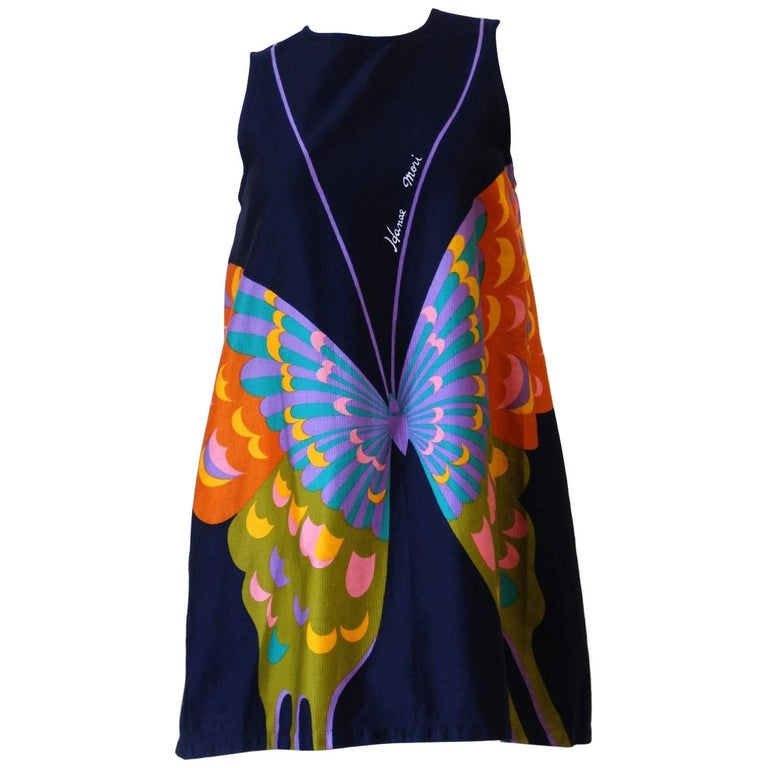 Hanae Mori Butterfly Apron Dress, 1980s
