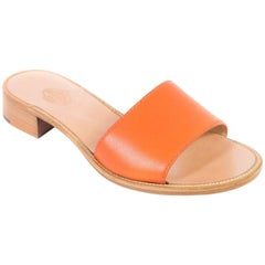 Church's Laura Tangerine Leather Mules Sandals