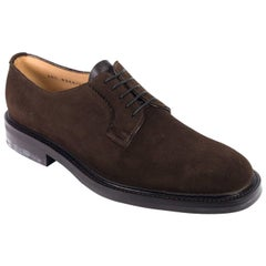 Church's Women's Dark Brown Suede Lace Up Shoes