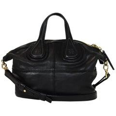 Givenchy Black Lambskin Micro Nightingale Satchel Crossbody Bag with Dust Bag