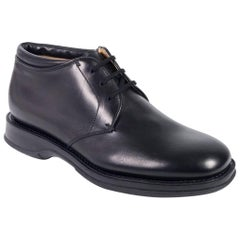 Church's Women's Solid Black Leather Lace Up Shoes