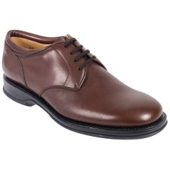 Church's Women's Solid Brown Leather Lace Up Shoes