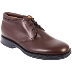 Church's Solid Brown Leather Lace Up Shoes