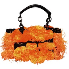 Blumarine Fancy Bag in Orange Raffia from 2012 Spring/Summer Collection