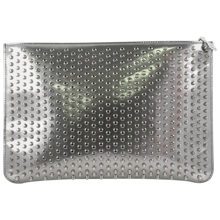 50c084ed349c Christian Louboutin Loubiposh Clutch Spiked Patent at 1stdibs
