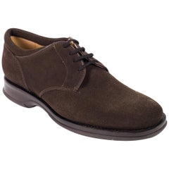 Church's Women's Dark Brown Suede Lace-Up Charmain Shoes