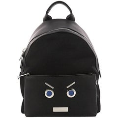 Fendi Faces Backpack Nylon and Leather