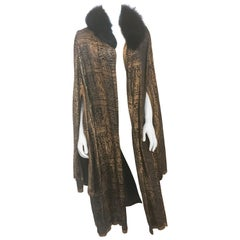 Black Evening Coat with Gold Lamé, 1920s