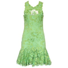 Olvi's Green Lace Dress S