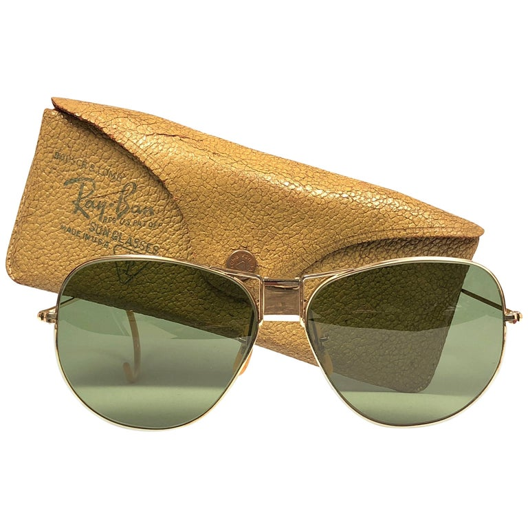 Bausch & Lomb Ray Ban Classic Hinged Gold Filled Sunglasses
