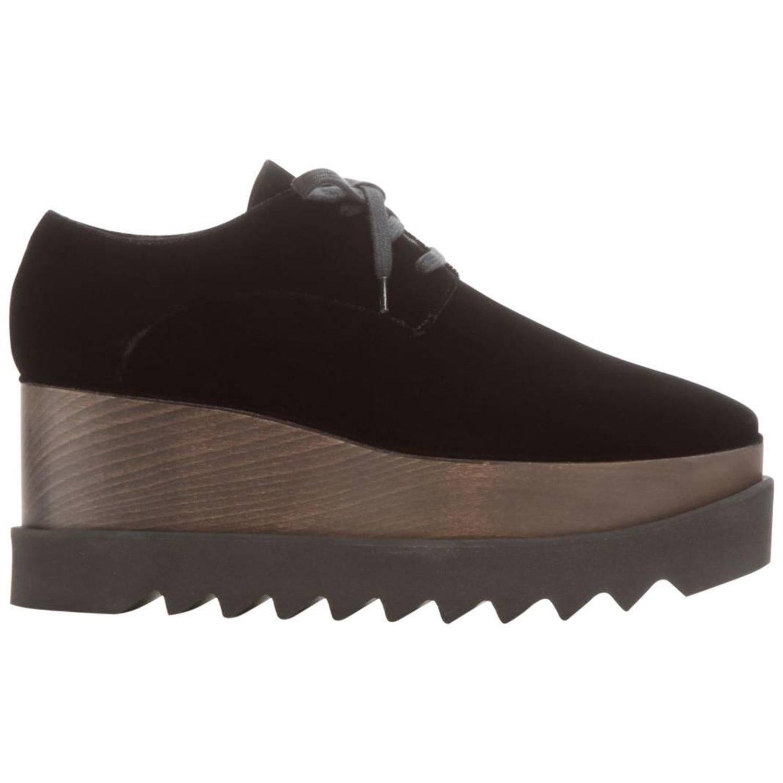 8d1f891c36 Stella McCartney Elyse Velvet Platform Derby Shoes at 1stdibs