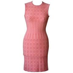 Azzedine Alaia Gaia Bodycon Coral Dress