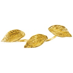 Giulia Barela 24 karat Gold Plated Bronze Leaves Ring