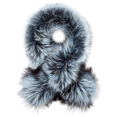 Verheyen London Lapel Cross-Through Collar in Iced Topaz Fox Fur & Silk Lining