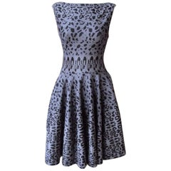 Azzedine Alaia Leopard-Print Stretch Knit Dress