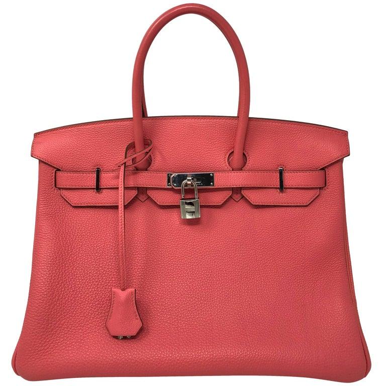 c8ad172a914 Hermes Bubblegum Pink Birkin 35 Bag at 1stdibs