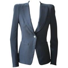 Alexander McQueen Black Crepe Blazer Jacket