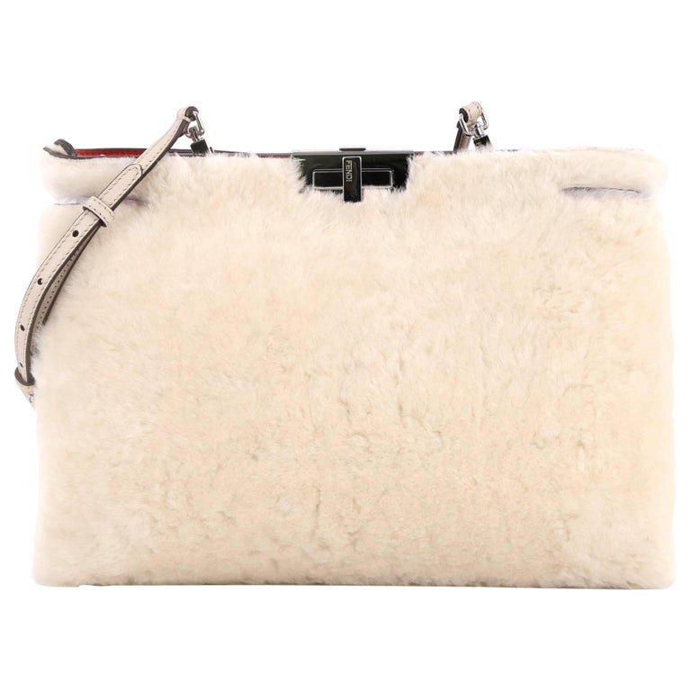 Fendi Peekaboo Clutch Bag Shearling