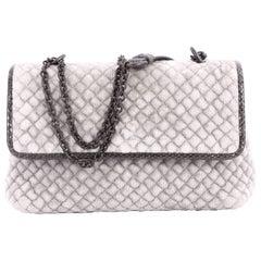 Bottega Veneta Olimpia Crossbody Bag Intrecciato Velvet Baby