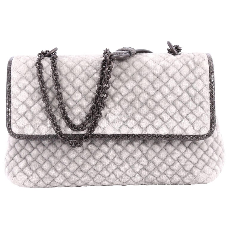Bottega Veneta Olimpia Crossbody Bag Intrecciato Velvet Baby  For Sale