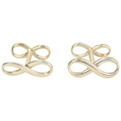 Tiffany & Co. Sterling Silver Infinity Cufflinks with Box & Case
