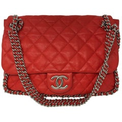 Chanel Red Chain Around Bag