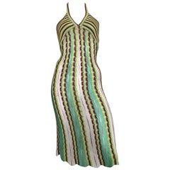 Missoni Knit Halter Dress Size 4.