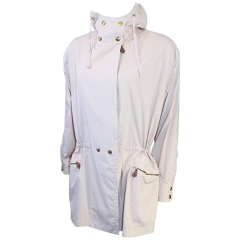 Hermes lite pink  spring jacket with hood